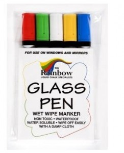 glass pens assorted 5 pack