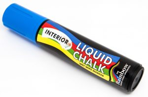 blue interior liquid chalk broad pen