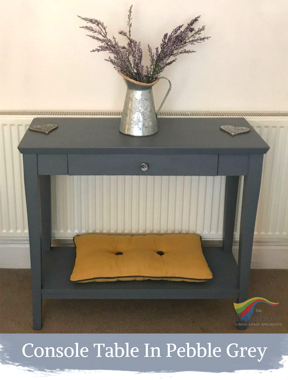 console table in pebble grey shabby chic furniture paint