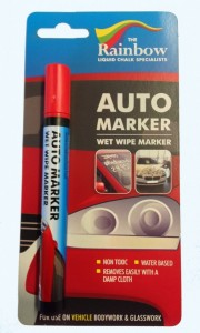 red auto marker pen