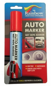 red auto marker pen broad