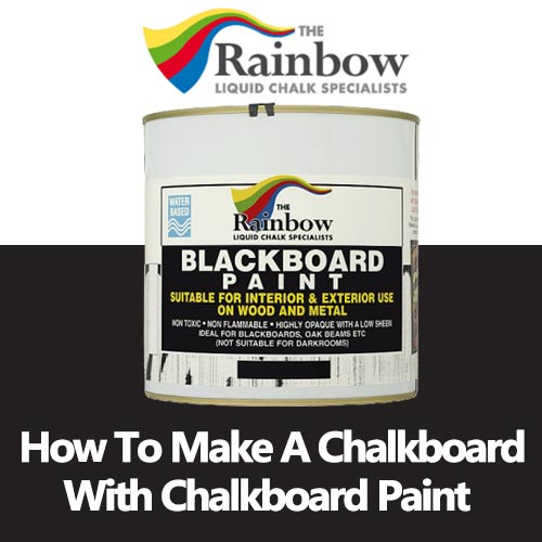 how to make a chalkboard with chalkboard paint