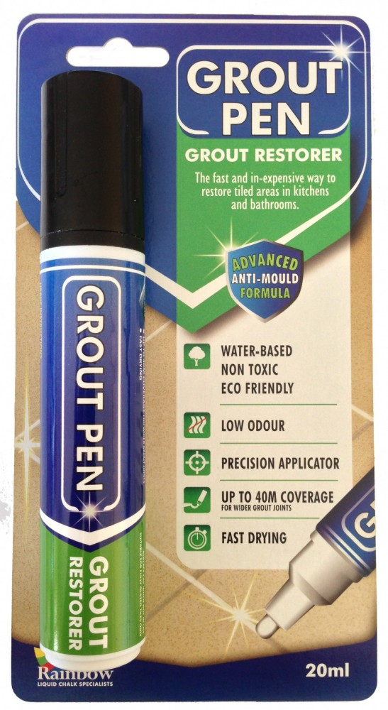 15mm Grout Pen For Grubby Grout Restoration Rainbow Chalk