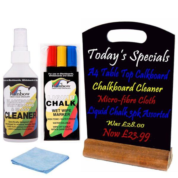 liquid chalk chalkboard combo set