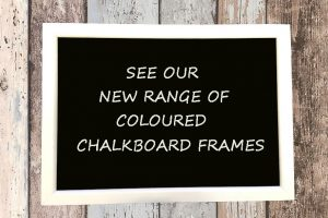 white framed chalkboard