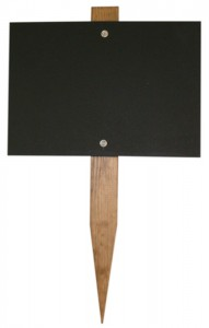 chalkboard stake
