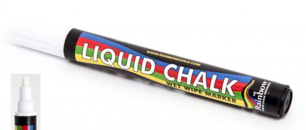 white liquid chalk pen bullet nib