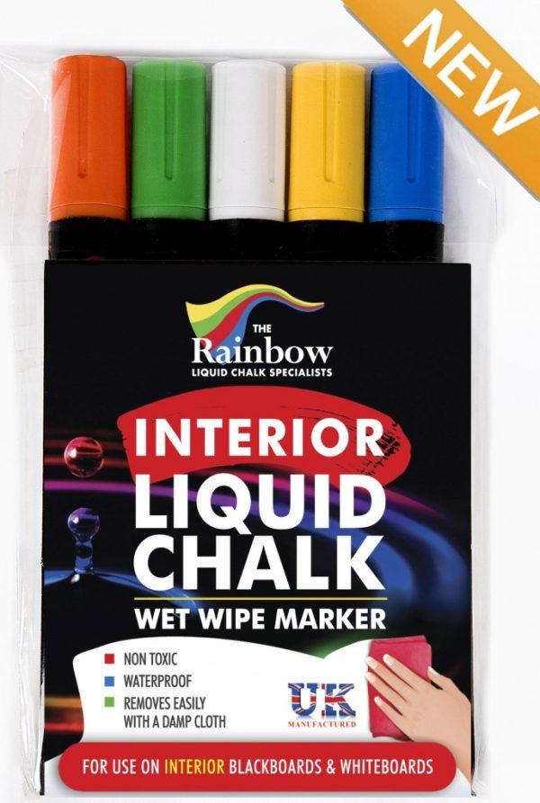 interior liquid chalk pens 5 pack assorted
