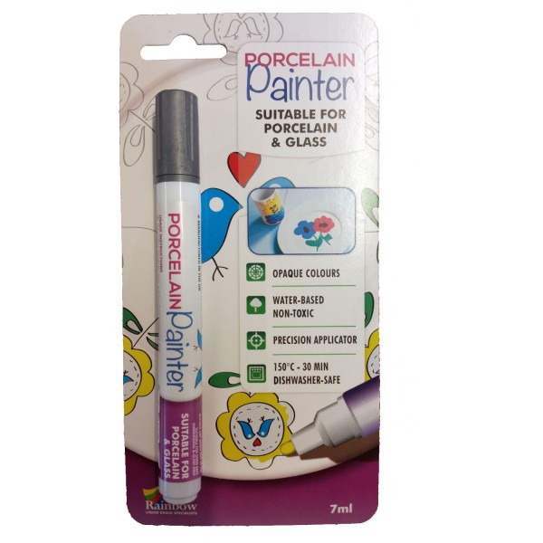 silver porcelain painter pen