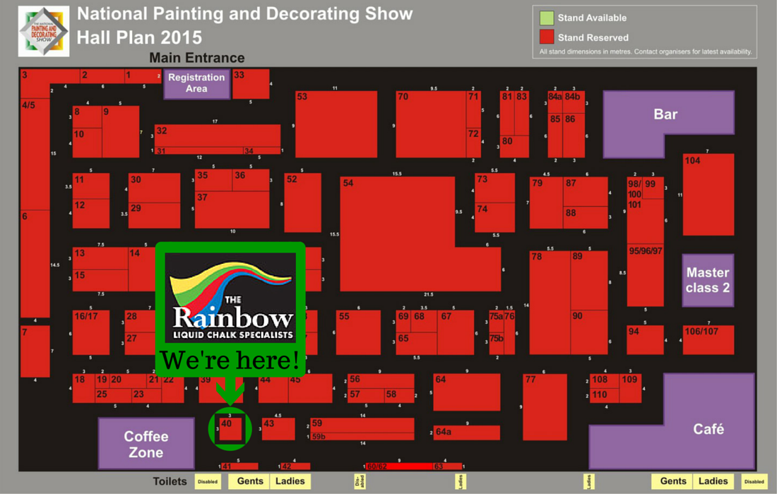 Rainbow Chalk National Painting And Decorating Show