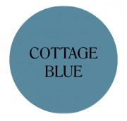 cottage blue chalk based furniture paint