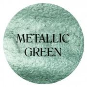 metallic green chalk based furniture paint