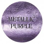 metallic purple chalk based furniture paint