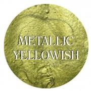 metallic yellowish chalk based furniture paint