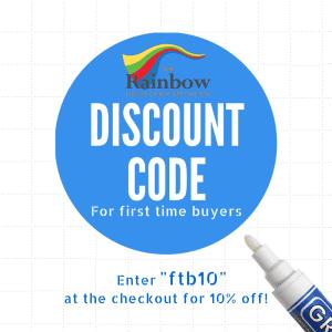 rainbow grout pen discount code