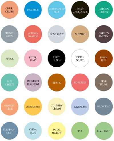 Our new range of garden furniture paint take a look at our colours rainbow chalk markers - Garden furniture colours ...