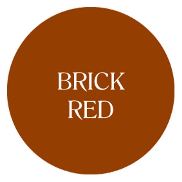 brick red chalk based garden furniture paint