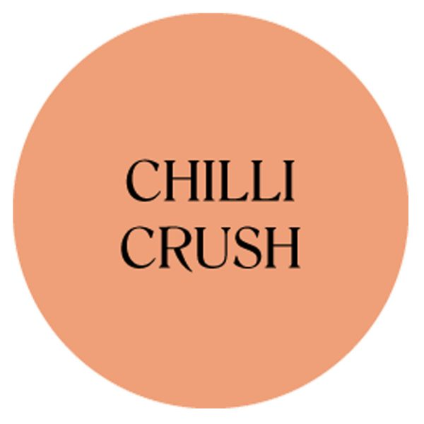 chilli crush chalk based garden furniture paint
