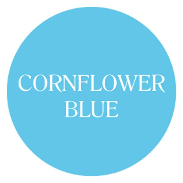 cornflower blue chalk based garden furniture paint