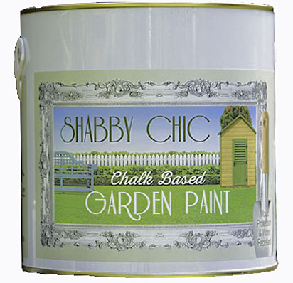 shabby chic chalk based garden paint