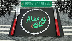 christmas chalkboard placemat