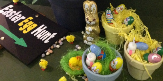 easter activities and decorations colourful nests