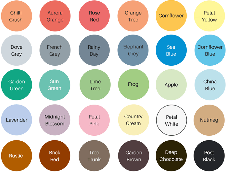 shabby chic garden furniture paint colours