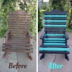 blue shabby chic garden chair