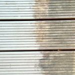 Before and after shabby chic decking paint