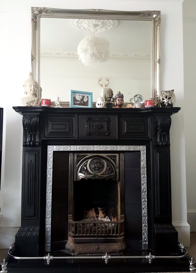 Modern Shabby Chic Fireplace Customer Diy Project