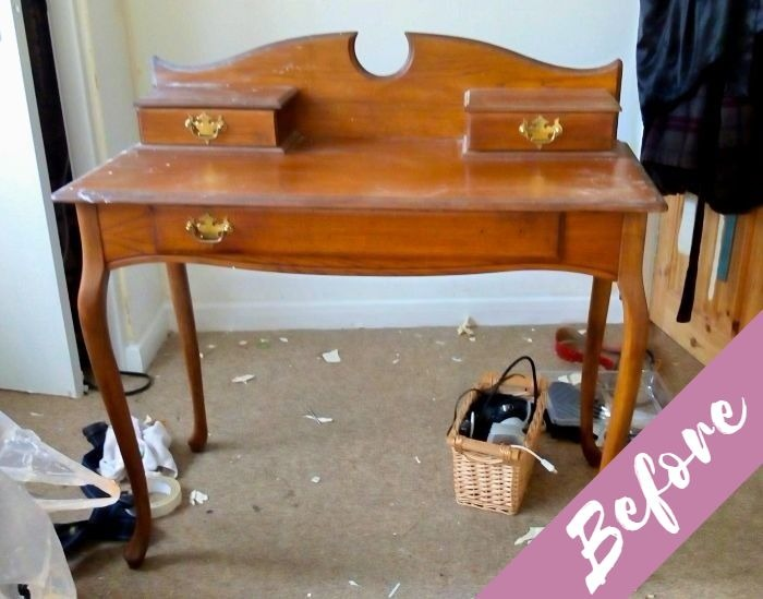Shabby Chic Dressing Table BEFORE
