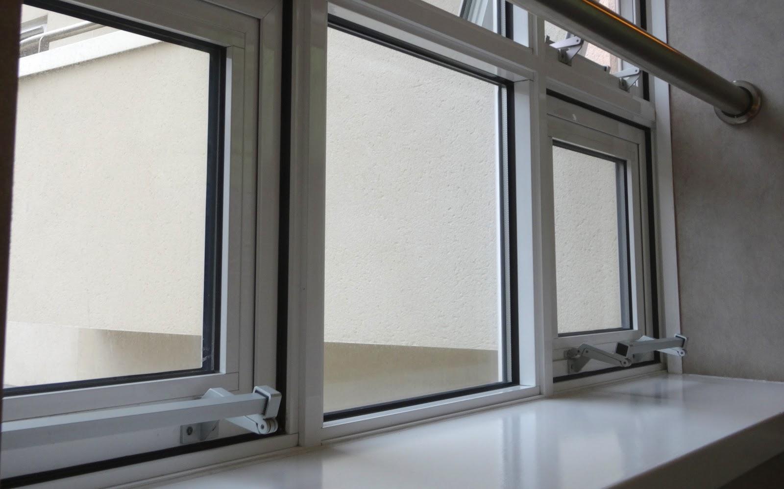A set of closed UPVC windows