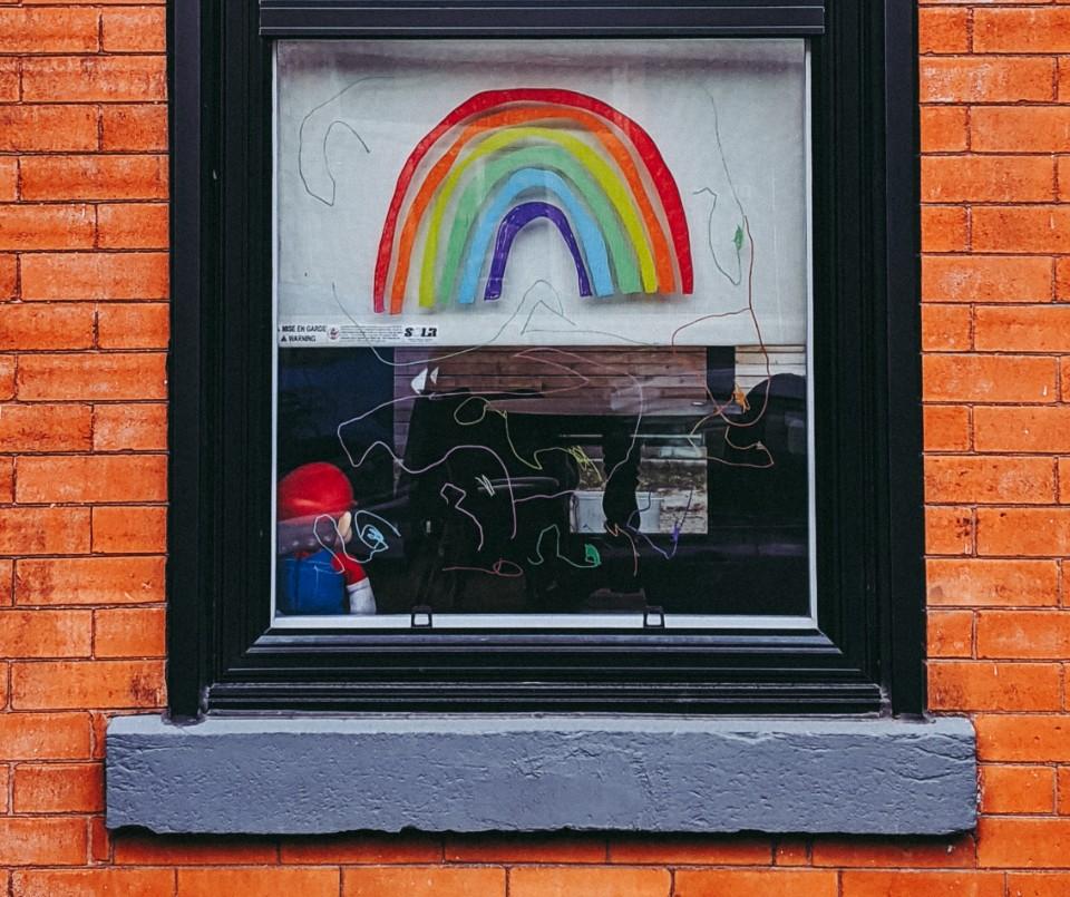 thank you nhs window display